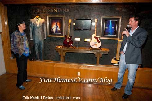 Carlos Santana Memorabilia Case