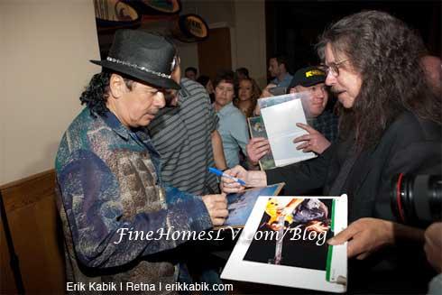 Carlos Santana and Fan