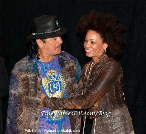 Carlos Santana and Wife
