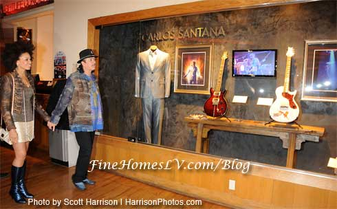 Cindy Blackmon and Carlos Santana