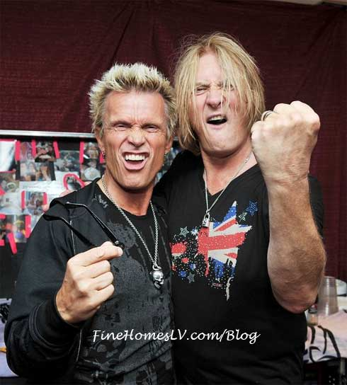 Billy Idol and Joe Elliott