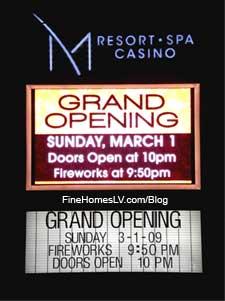 M Resort Grand Opening