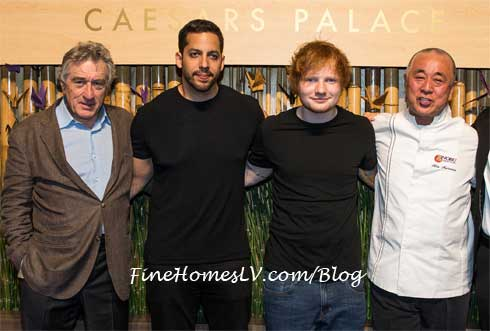 Robert De Niro, David Blaine, Ed Sheeran and Chef Nobu Matsuhisa