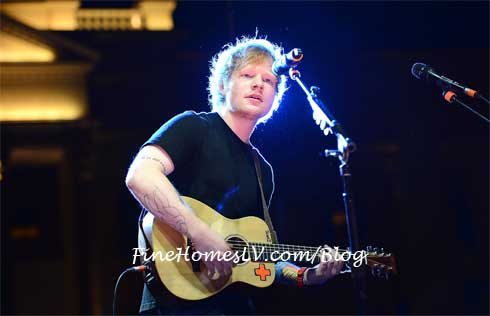 Ed Sheeran Performs at NOBU Hotel Las Vegas