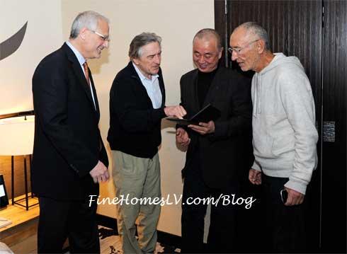 Gary Selesner, Robert De Niro, Nobu Matsuhisa and Meir Teper