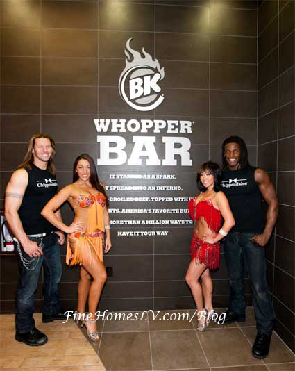 Burger King Whopper Bar, Chippendales and RIO Performers