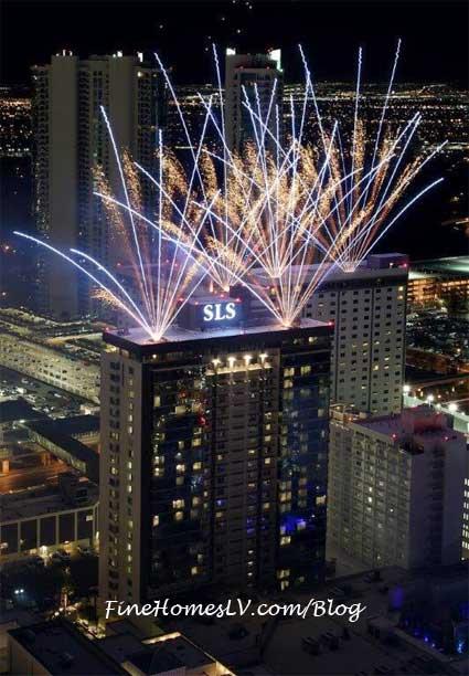 SLS Las Vegas Fireworks