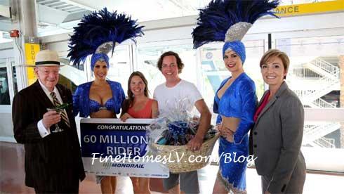 60 Millionth Rider Las Vegas Monorail