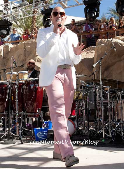 Pitbull Performs at Beachlife