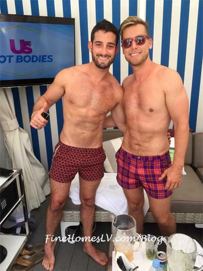 Lance Bass and Michael Turchin At Foxtail Pool Club
