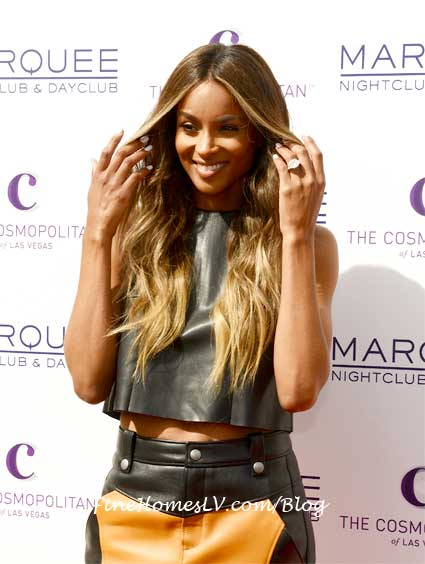 Ciara On The Red Carpet At Marquee Dayclub