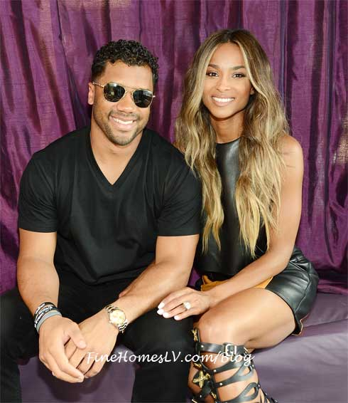 Ciara and Russell Wilson at Marquee Dayclub
