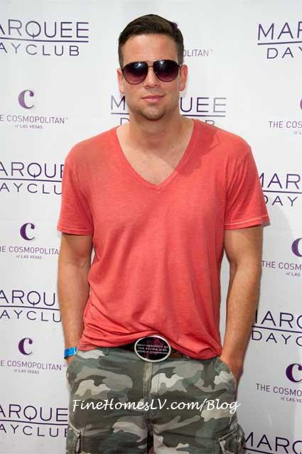Glee Mark Salling at Marquee Dayclub Las Vegas