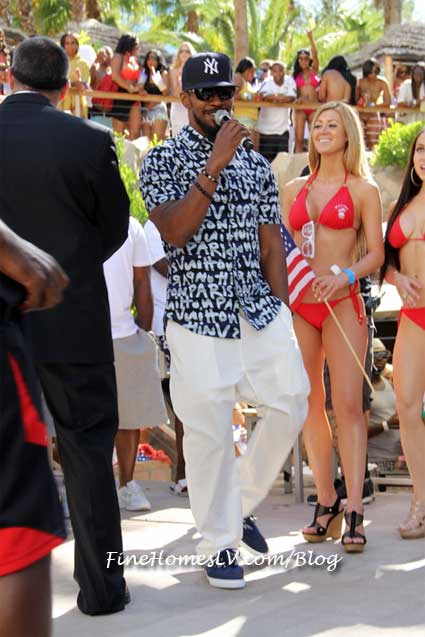 Jamie Foxx at REHAB Pool