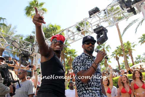 Jamie Foxx and Ne Yo at REHAB