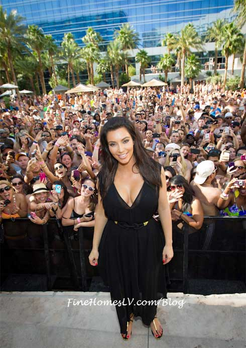Kim Kardashian at REHAB Pool Party