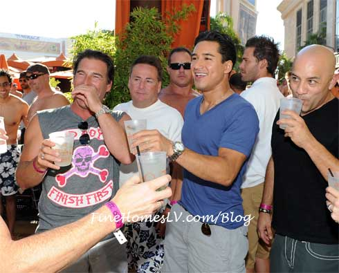 Mario Lopez at TAO Beach
