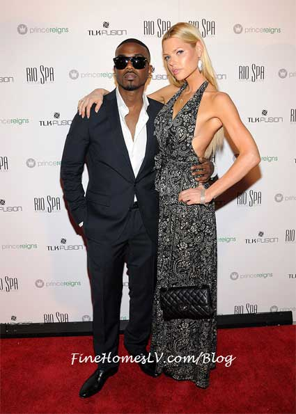 Ray J and Sophie Monk at Voodoo Beach