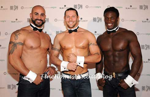 John Rivera, Jace Crispin and Chaun Thomas of Chippendales