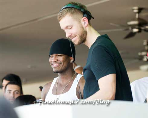 Calvin Harris and Ne Yo at WET