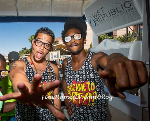 Sky Blu and Shwayze at WET REPUBLIC