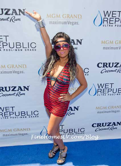 Snooki at WET Republic Las Vegas