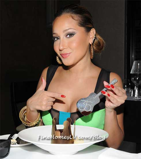 Adrienne Bailon at 35 Steaks and Martinis