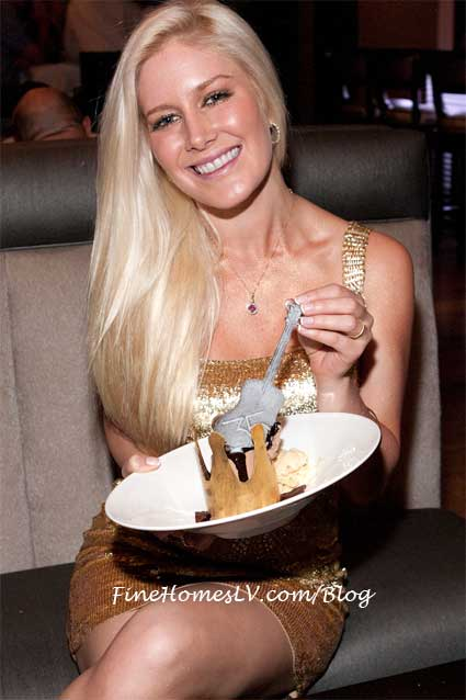 Heidi Montag at 35 Steaks and Martinis