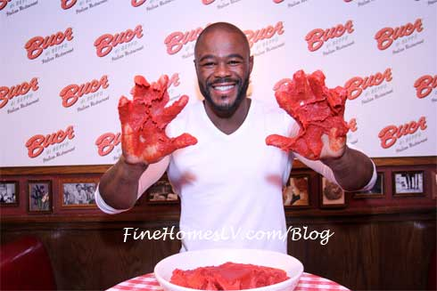 Rashad Evans With Marinara Hands