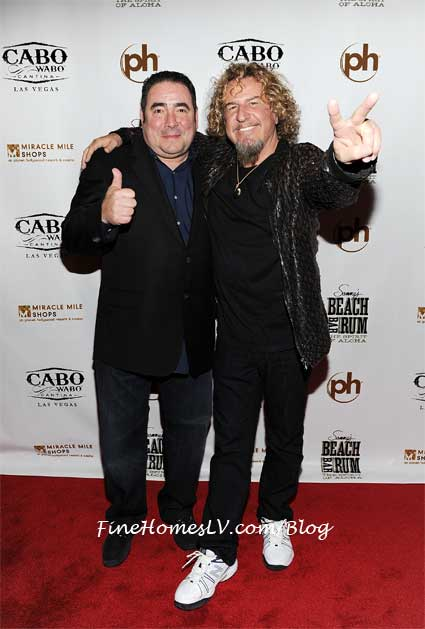 Emeril Lagasse and Sammy Hagar