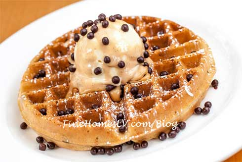 Peanut Butter Cup Waffle