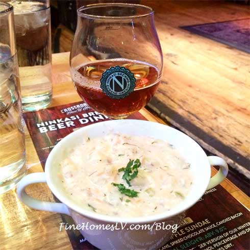 Ninkasi Beer and Chowder