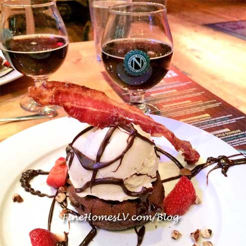 Ninkasi Beer and Waffle With Candied Bacon