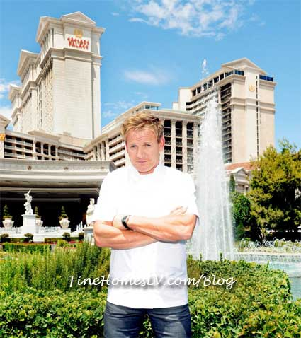 Chef Gordon Ramsay at Caesars Palace Las Vegas