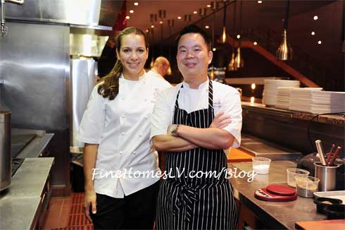 Christina Wilson and Chef Kevin Hee
