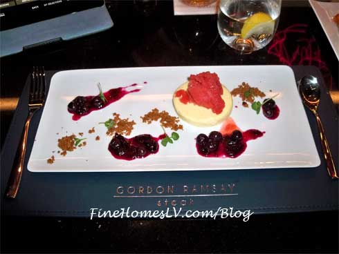 Deconstructed Cheesecake at Gordon Ramsay Steak