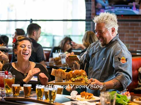 Guy Fieri With Guy Fieri's Vegas Kitchen and Bar Patron