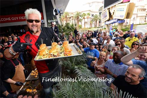 Guy Fieri Serves Award Winning Burgers To Fans