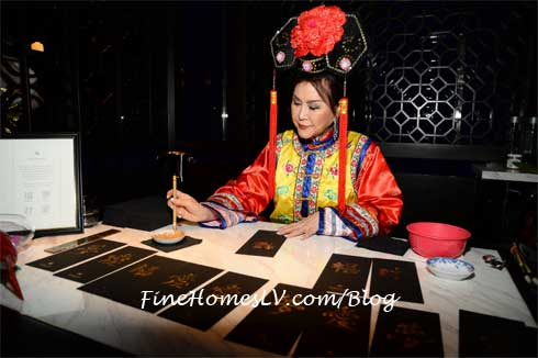 Calligraphist at Hakkasan Las Vegas