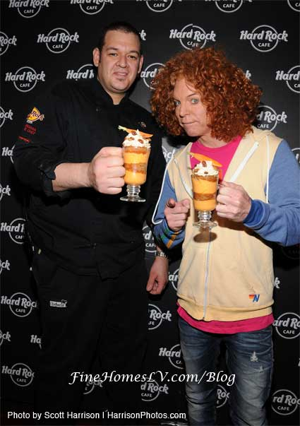 Carrot Top and Chef Moran