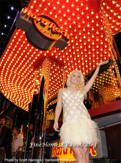 Hard Rock Cafe and Holly Madison