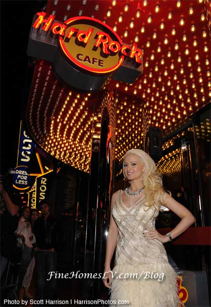Holly Madison and Hard Rock Cafe Las Vegas