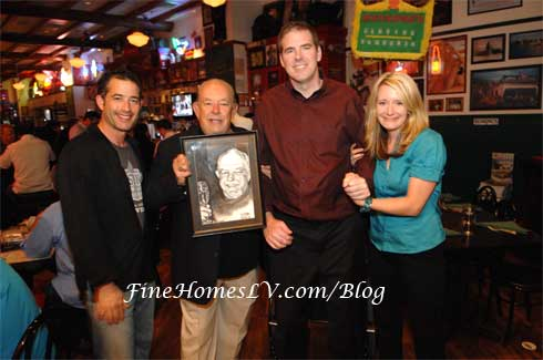 Jeff Marks, Robin Leach, Scott Frost and Megan Powell
