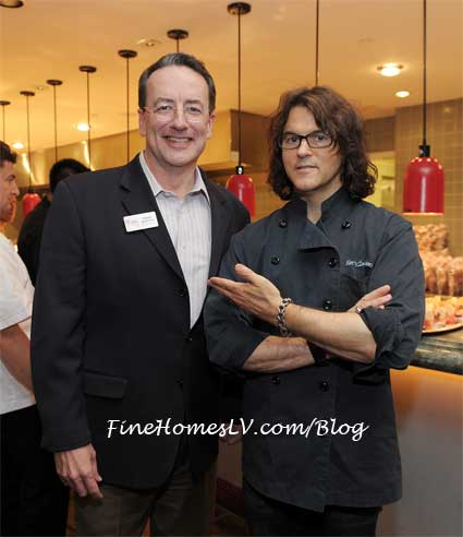 CEO and Pres of Three Square Brian Burton and Chef Kerry Simon