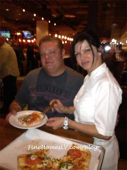 Corey Harrison and Chef Carla Pellegrino