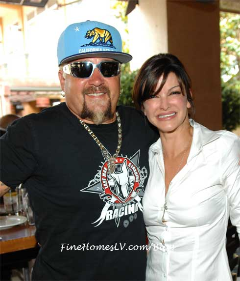 Guy Fieri and Carla Pellegrino