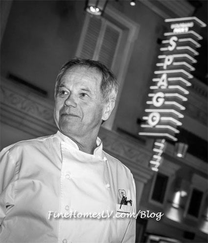 Wolfgang Puck At SPAGO Italian Restaurant In Las Vegas