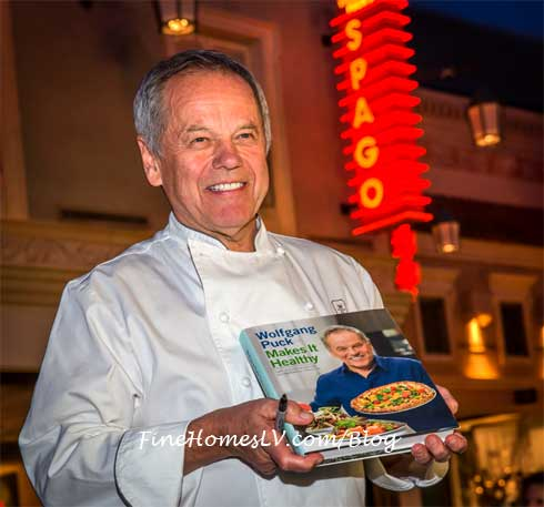 Wolfgang Puck and New Cookbook At SPAGO At Caesars Palace