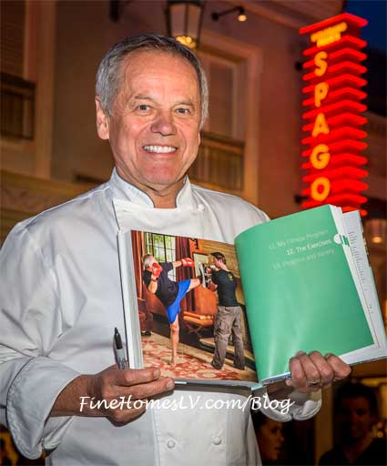 Wolfgang Puck With New Cookbook At SPAGO Restaurant