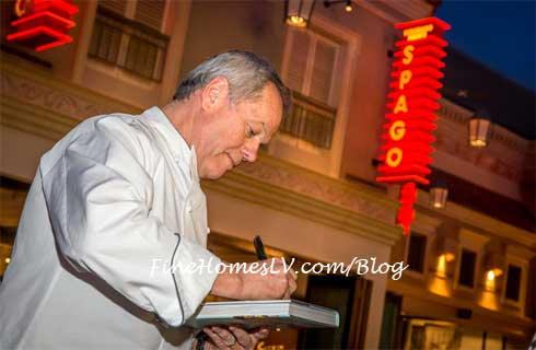 Wolfgang Puck Signs Cookbook At SPAGO at The Forum Shops